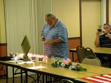 David lighting a candle