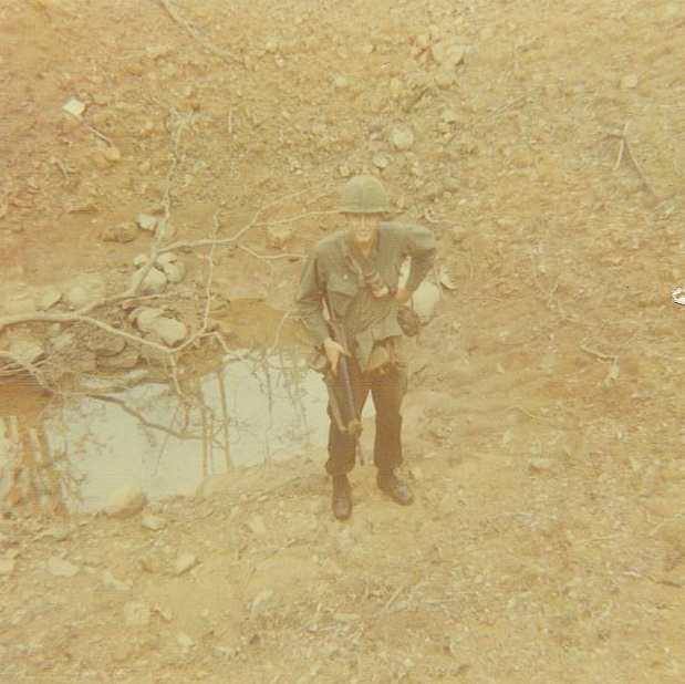 B52 bomb crater on the Ho Chi Minh trail