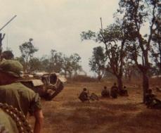 Receiving sniper fire from the church Tet 1968