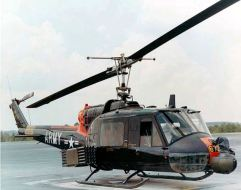 UH-1 with rockets and minigun turret