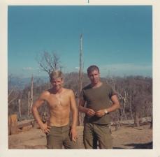 L-R; Dick Snow, Lt Henry Norring