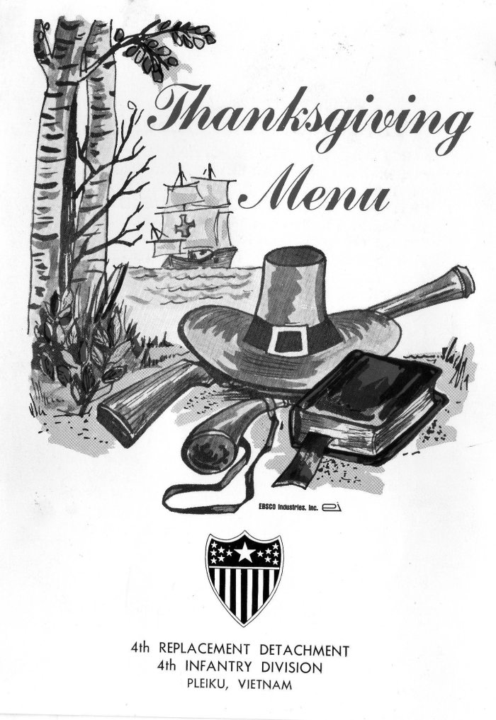 1967 RVN Thanksgiving menu 2