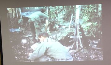 We watched US Army film of Charlie Company taken in the field October 1967
